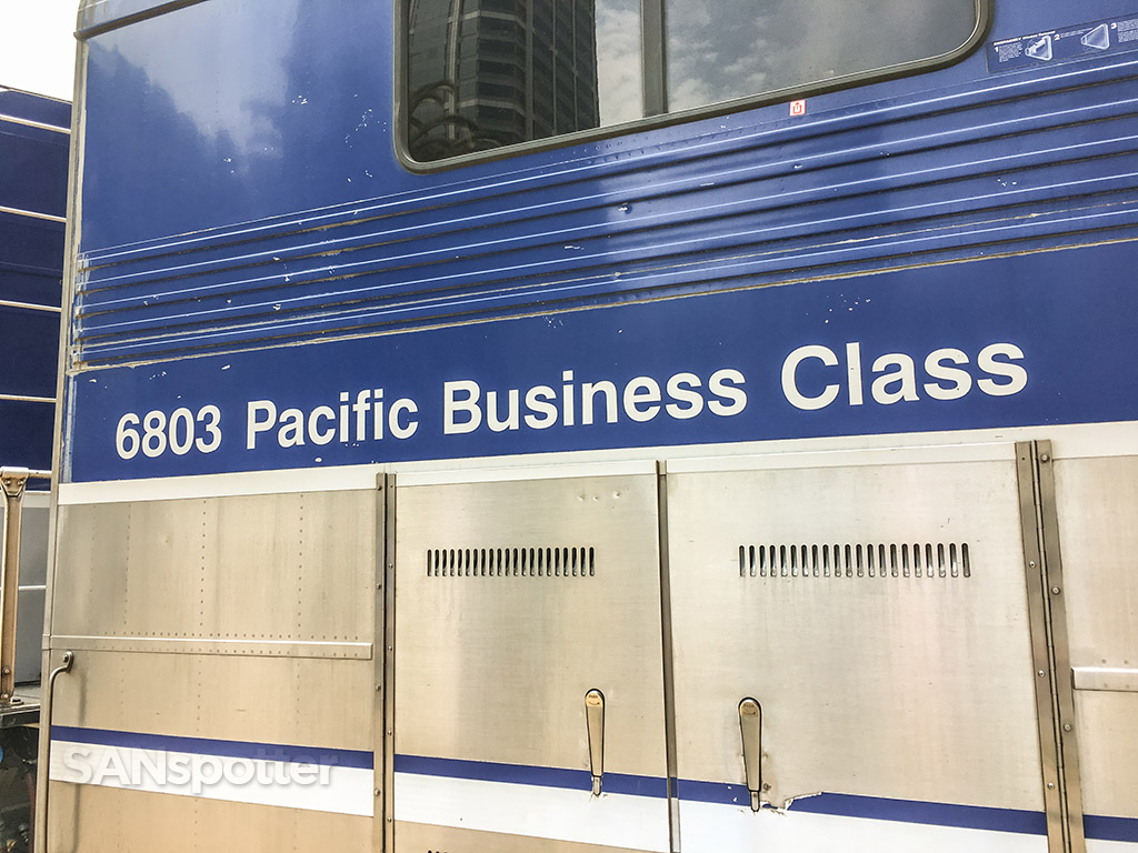 Amtrak Pacific surf liner business class car