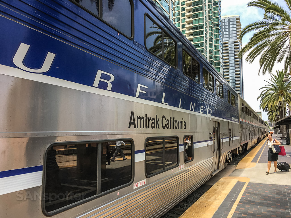 Up close with the Amtrak Pacific surf liner train