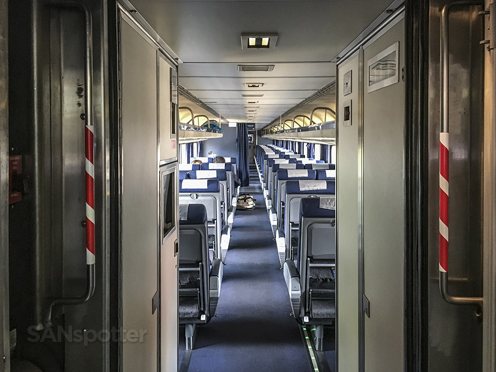 Amtrak Pacific surf liner business class interior