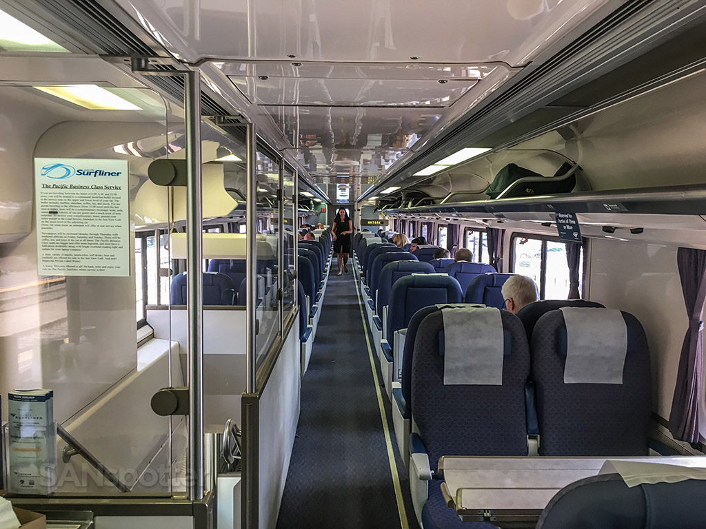 Amtrak Pacific Surfliner business class interior