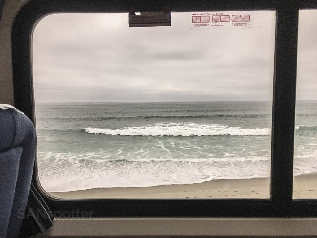 Amtrak Pacific Surfliner ocean view