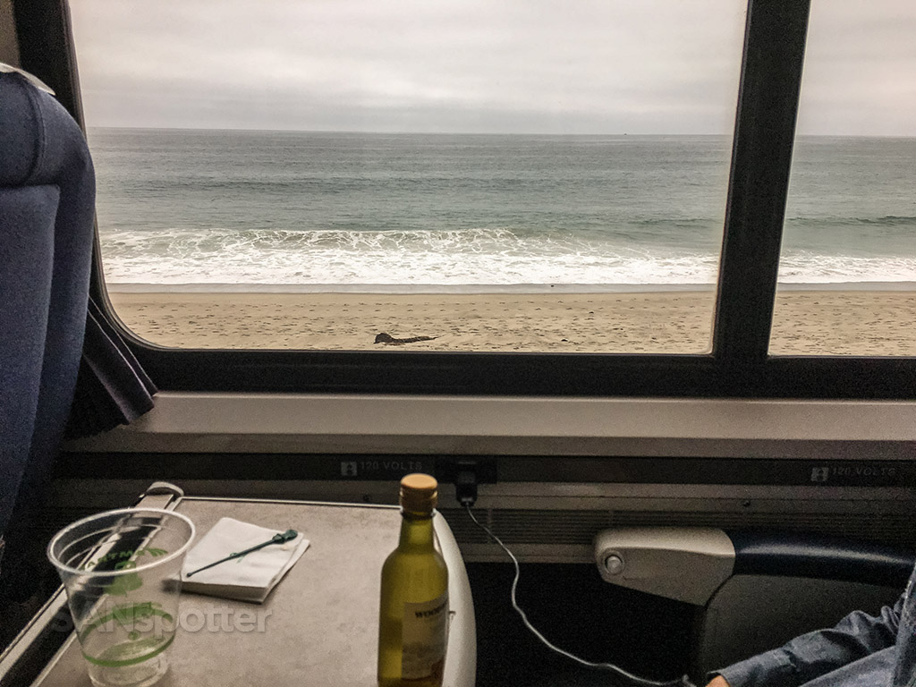 Amtrak Pacific surfliner business class free wine