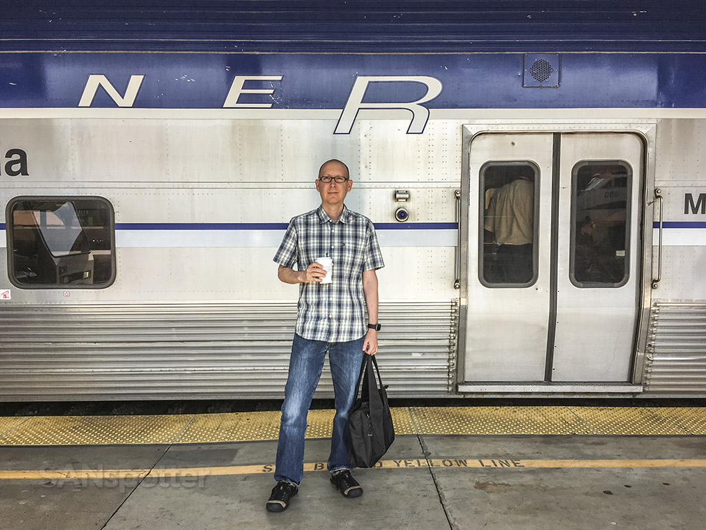 SANspotter selfie Amtrak Pacific surfliner train