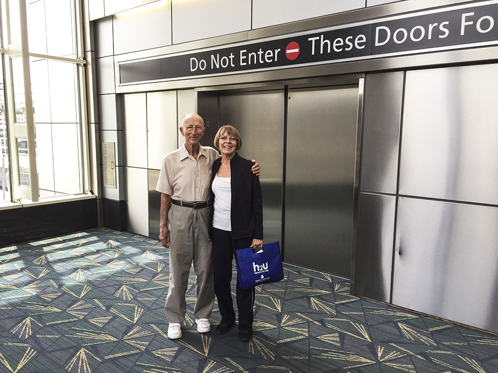 mother and grandfather at Tampa airport