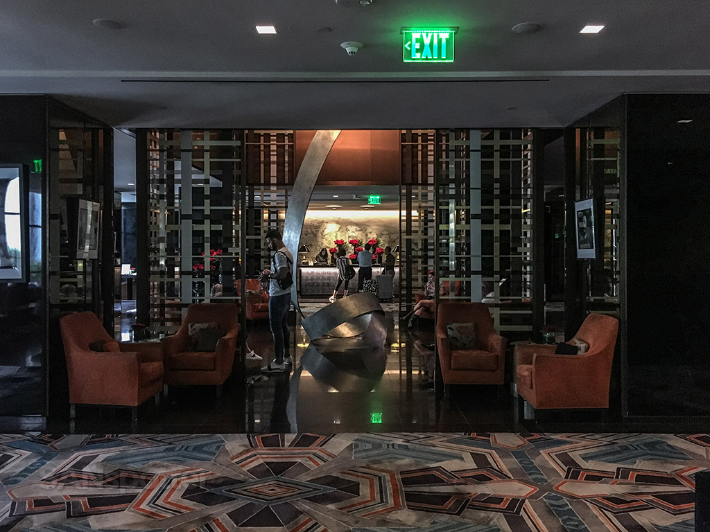 Sofitel Beverly Hills lobby and check in desk