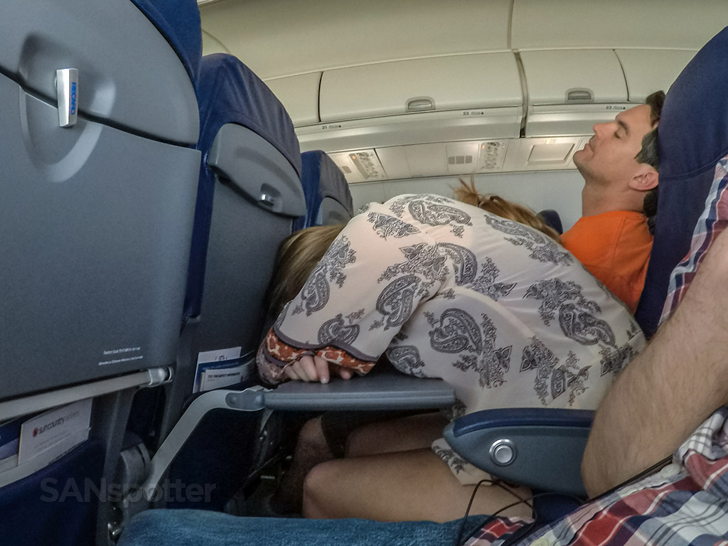 Sleeping airline passengers