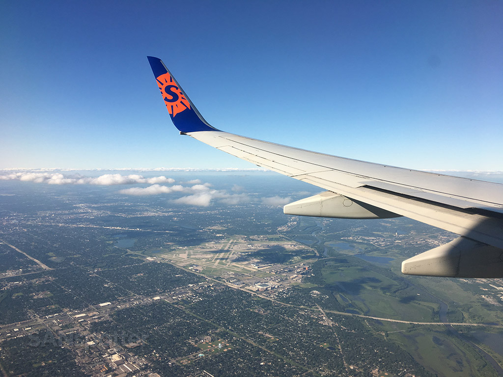 Flying over MSP airport