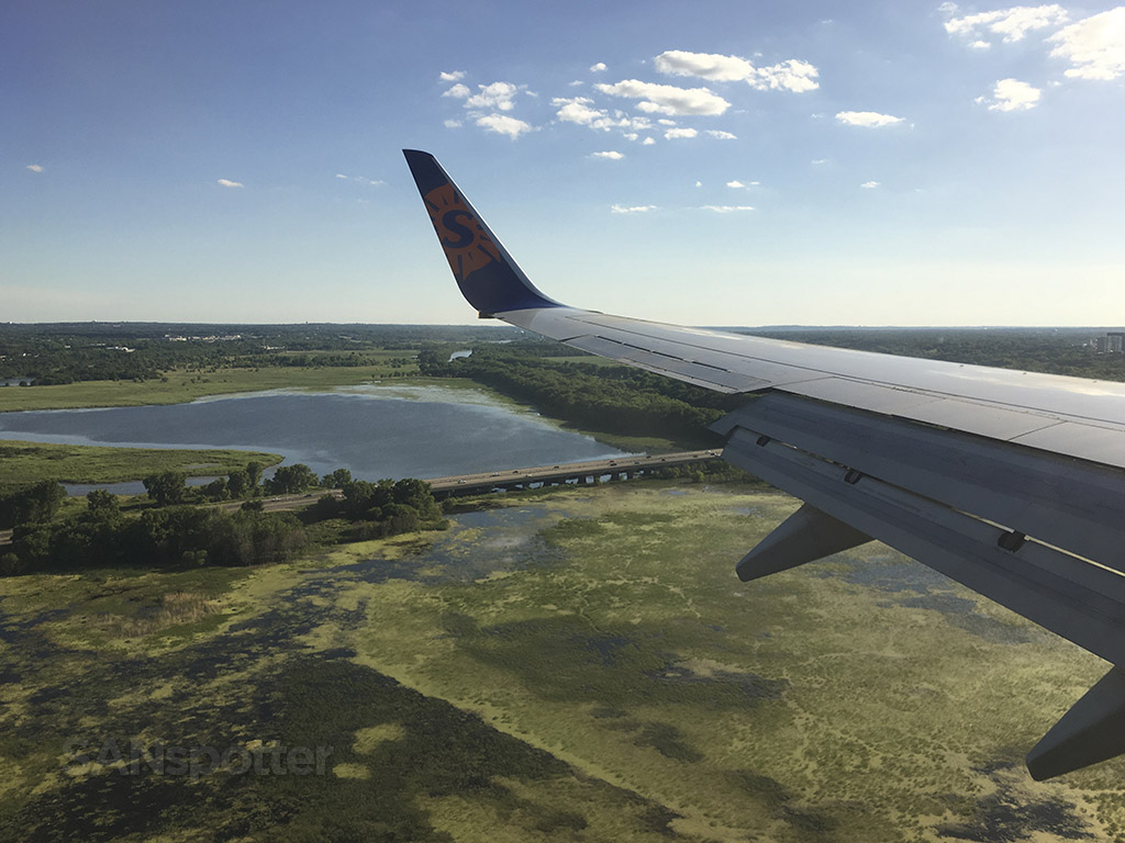 Landing at MSP airport