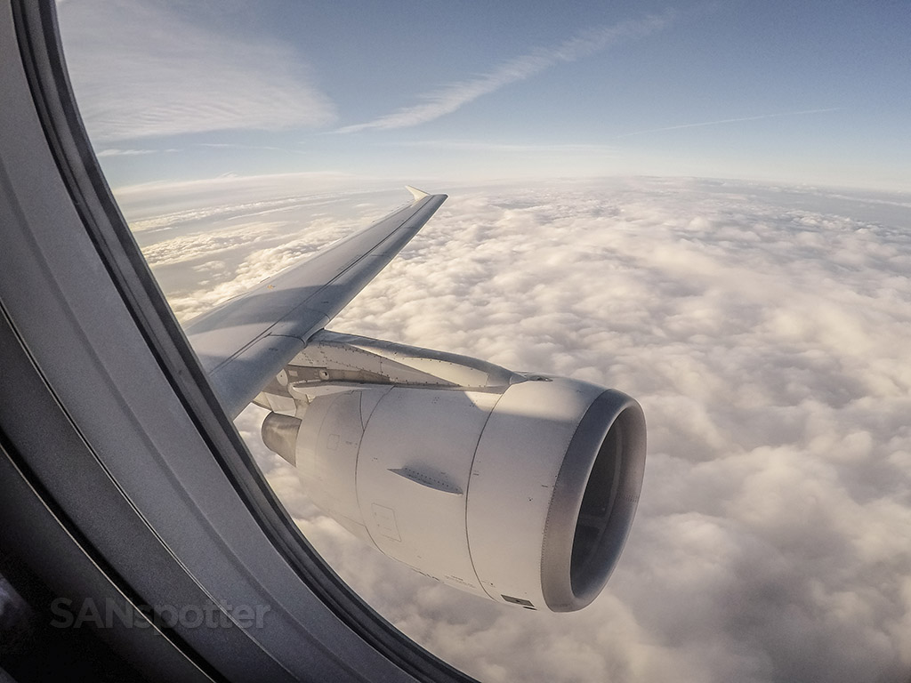 A320 wing and engine view