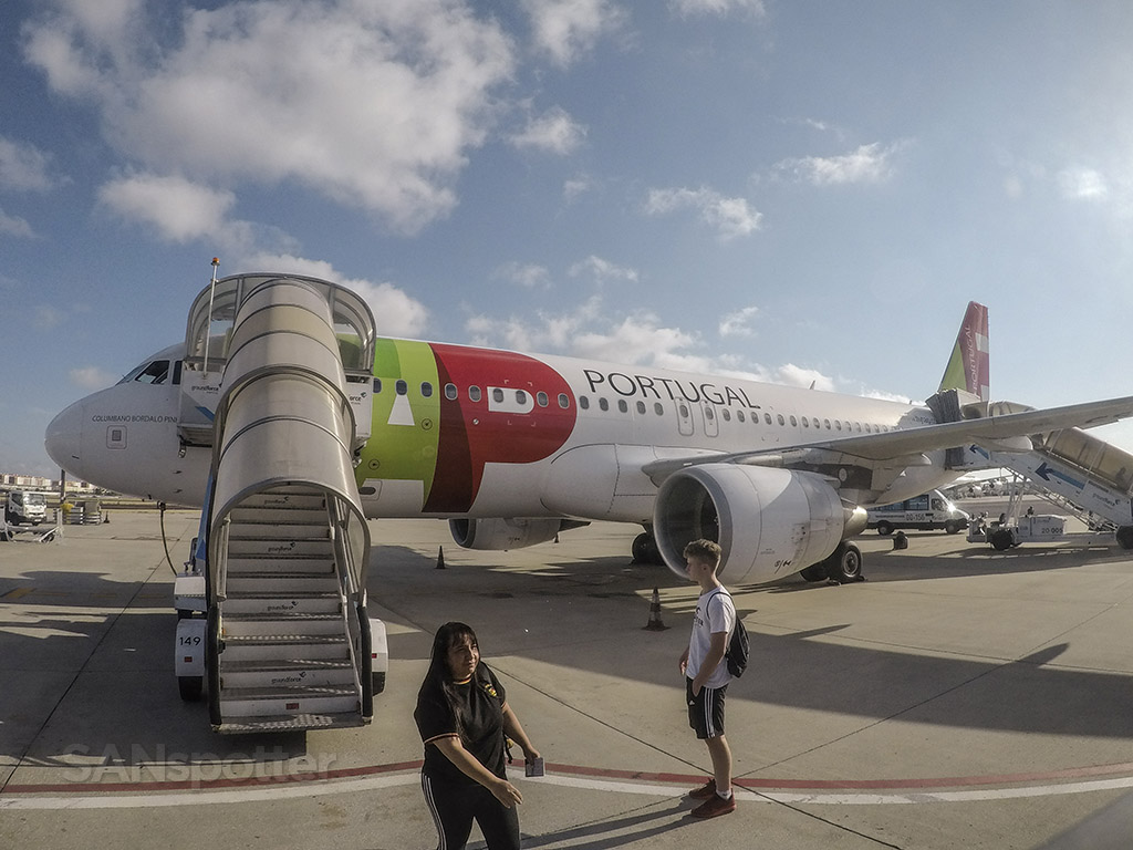 TAP Portugal A320 Lisbon airport remote gate