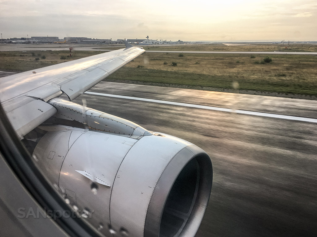 Departing Frankfurt Airport