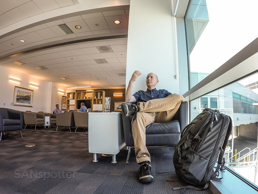 SANspotter airport lounge selfie
