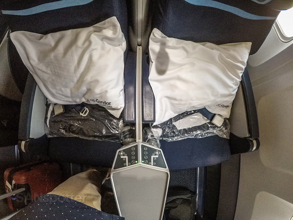 Condor Airlines pillow and blanket