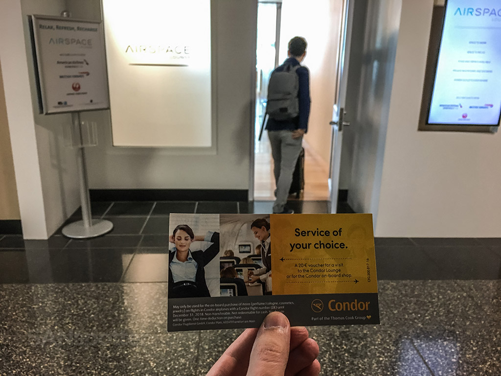 Condor Airlines lounge access San Diego airport