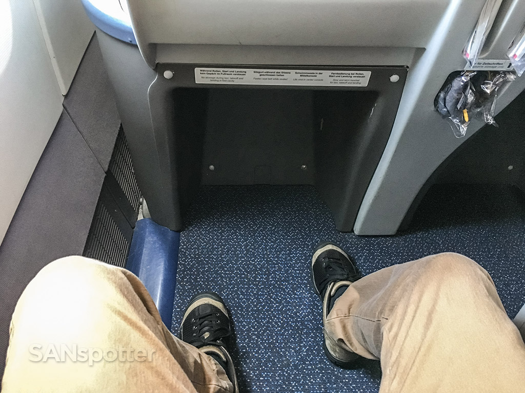 Condor Airlines 767 business class leg room