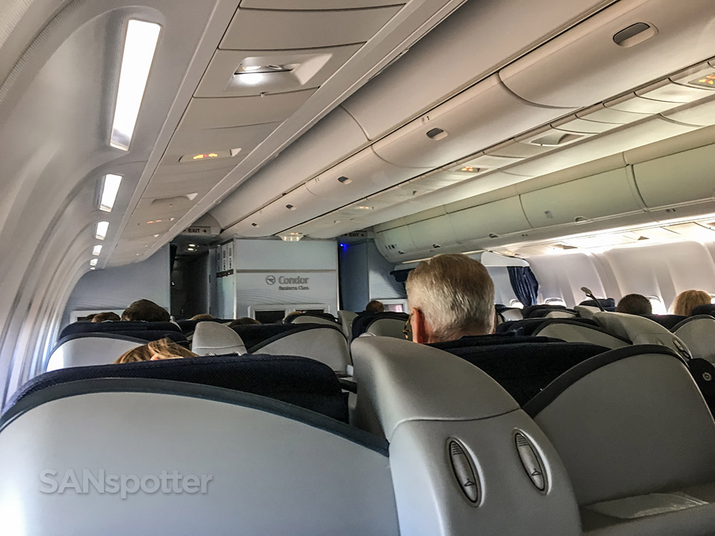 Condor Airlines 767 business class interior
