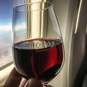 Condor business class red wine