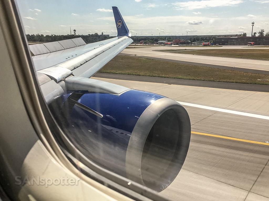 Frankfurt airport arriving