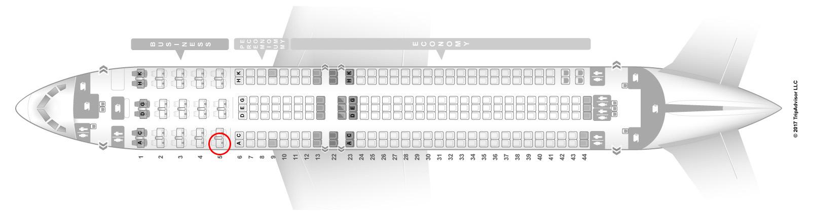 condor 767-300 seat map