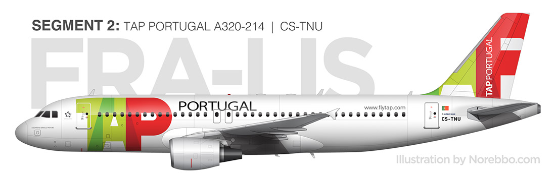 TAP A320 side view rendering
