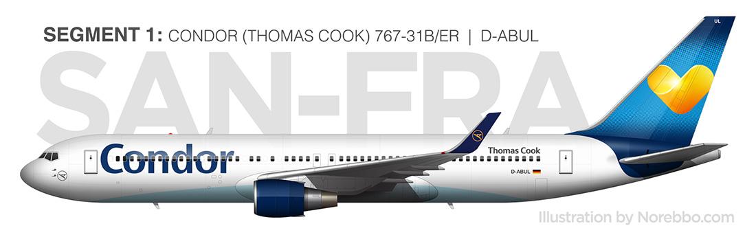 condor 767-300 side view