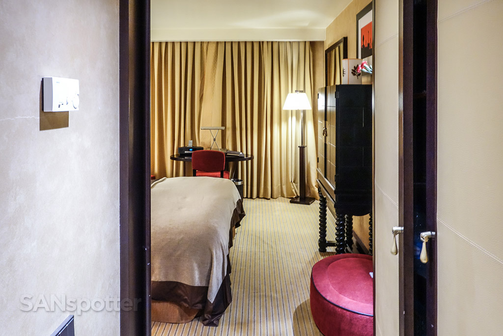 Walking into Sofitel Liberdade hotel room