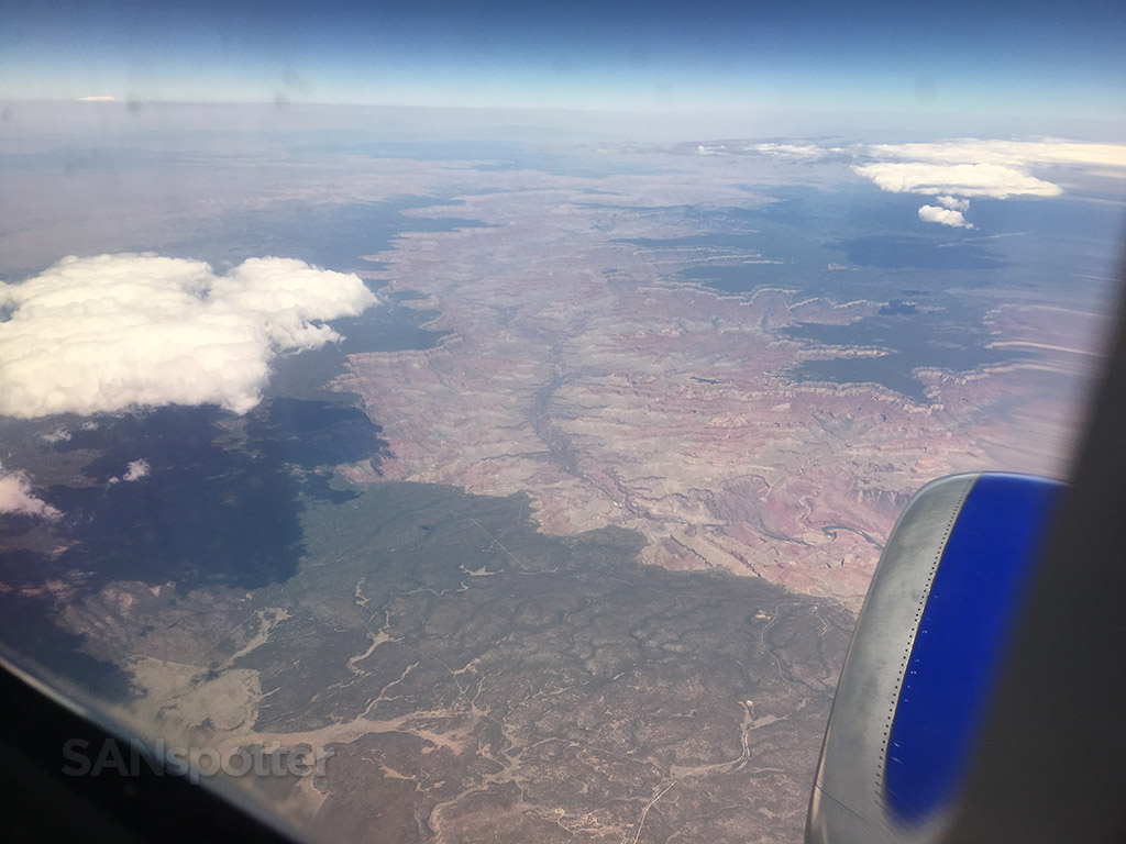 Flying over Grand Canyon