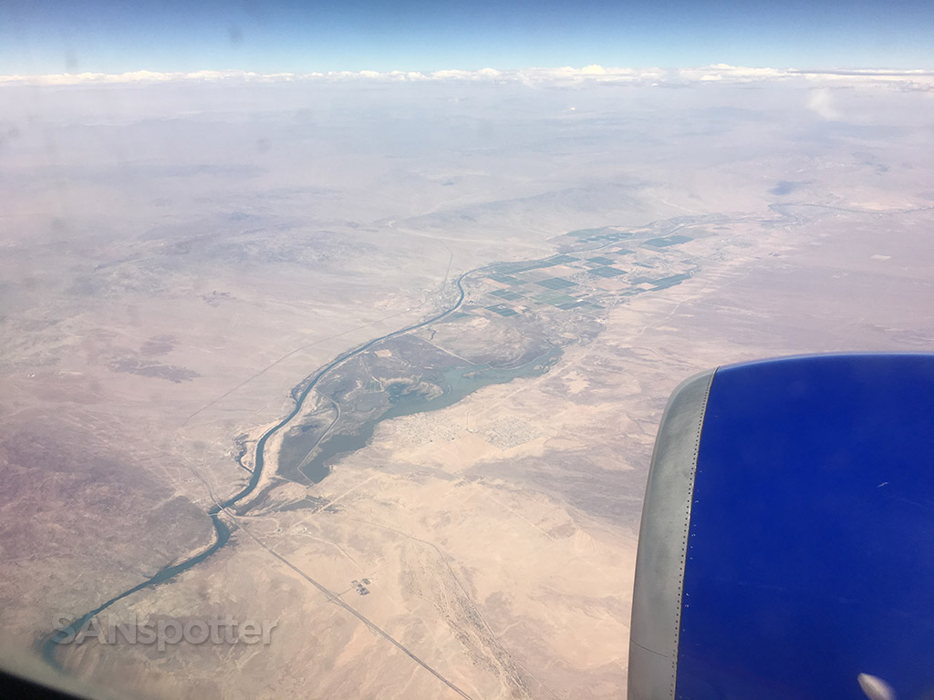 Colorado river from 35000ft