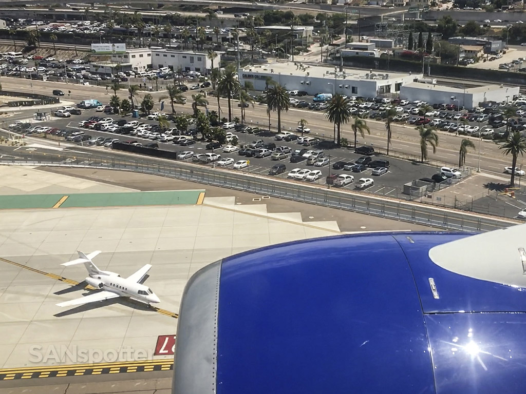 Arriving at San Diego airport