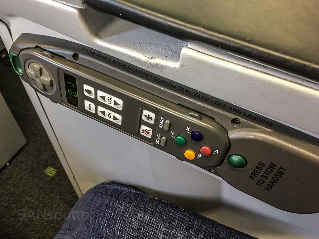 tap portugal a330 business class entertainment remote