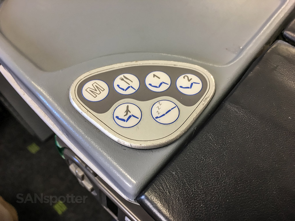 tap portugal a330 business class seat controls