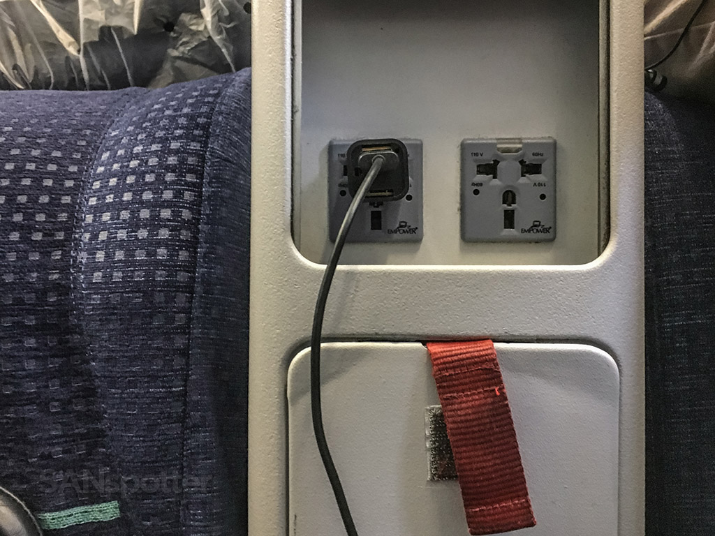 tap portugal a330 business class seat power ports