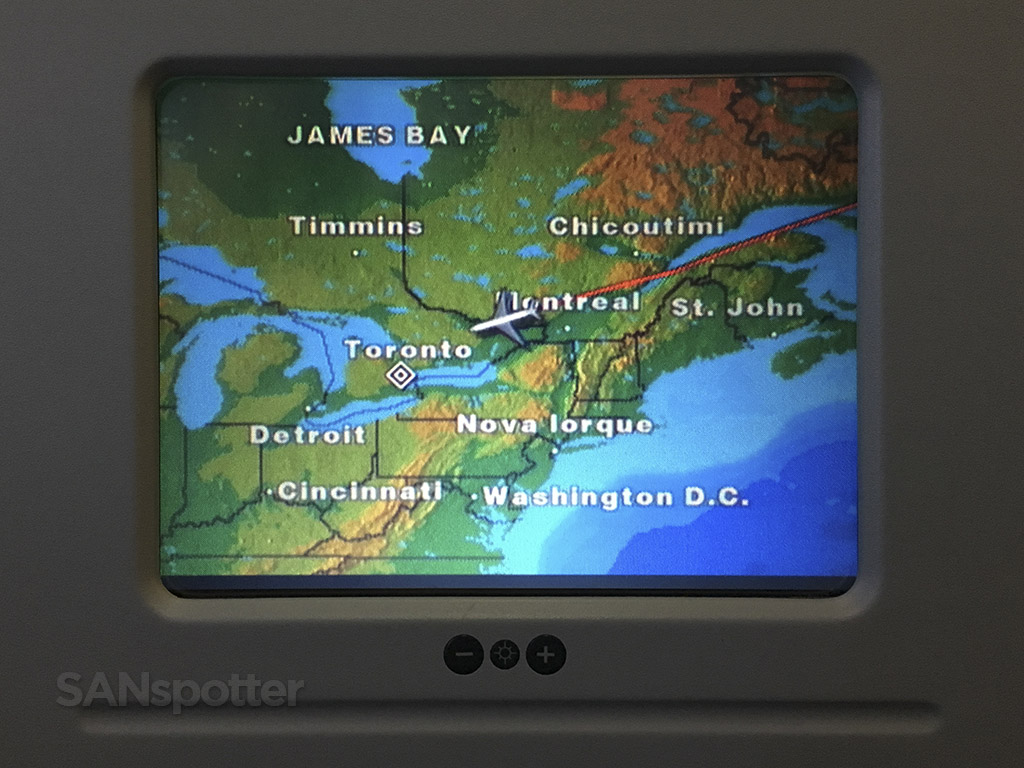 lisbon to toronto flight map