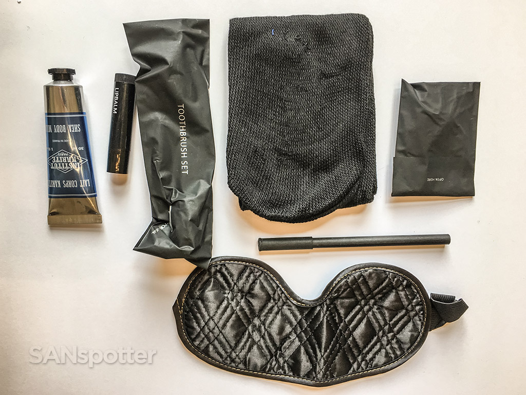 TAP portugal business class amenity kit contents