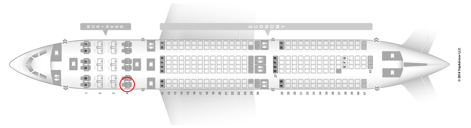 TAP A330-200 seat map
