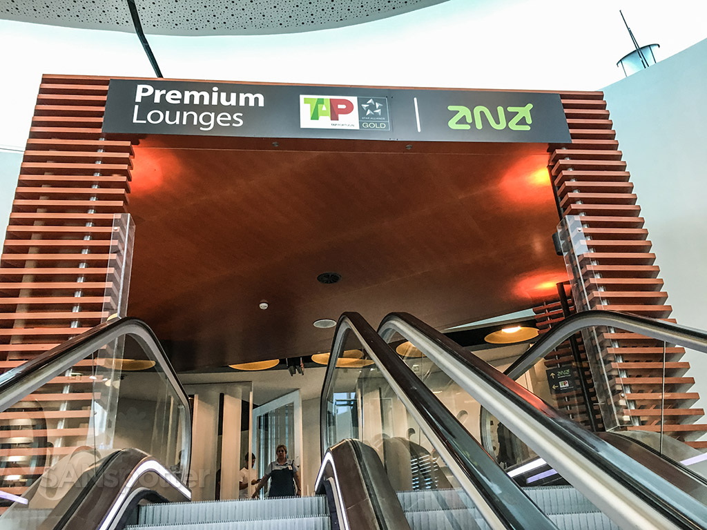 Up the escalator to the TAP premium lounge