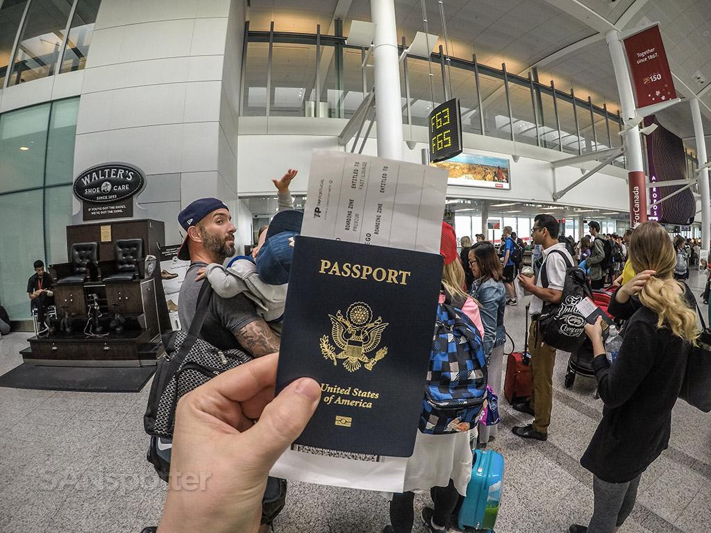 Air Canada Rouge boarding gate YYZ