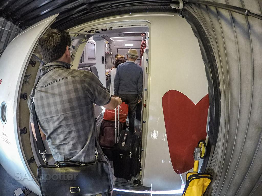 Air Canada Rouge a321 boarding door