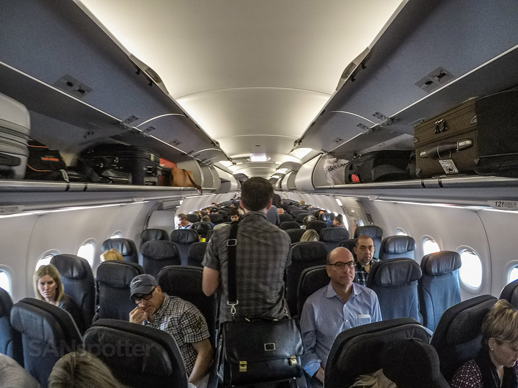 Air Canada Rouge A321 main cabin