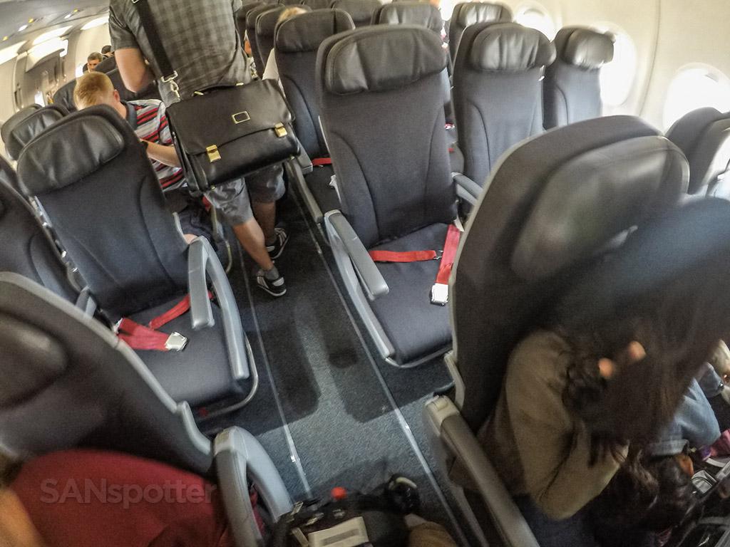 Air Canada Rouge a321 interior