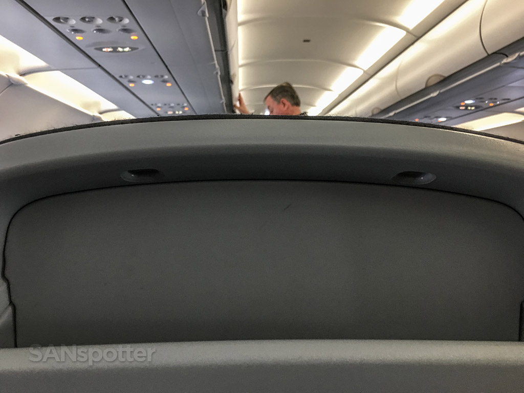 Air Canada Rouge seat backs