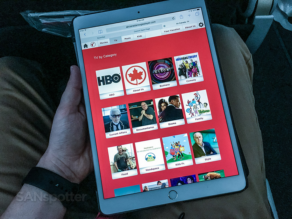 Air Canada Rouge tv and movies