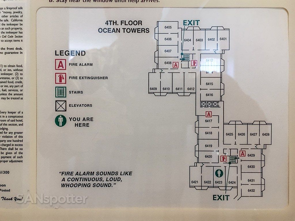 Hotel Del Coronado Ocean Towers building floor plan