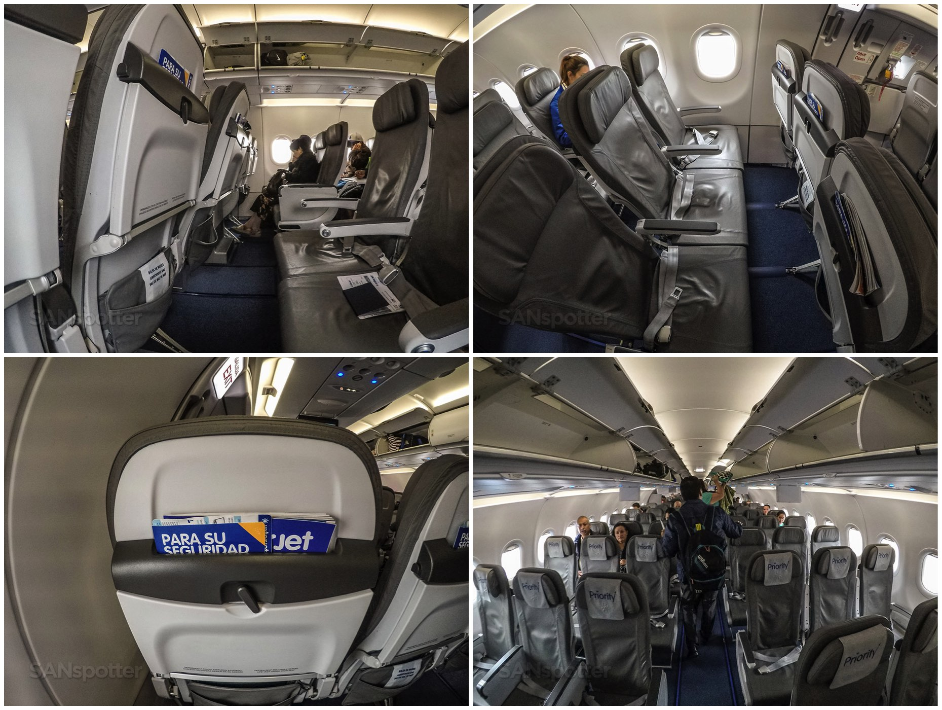 Interjet A321 seats and interior