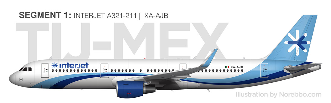 Interjet A321 side view