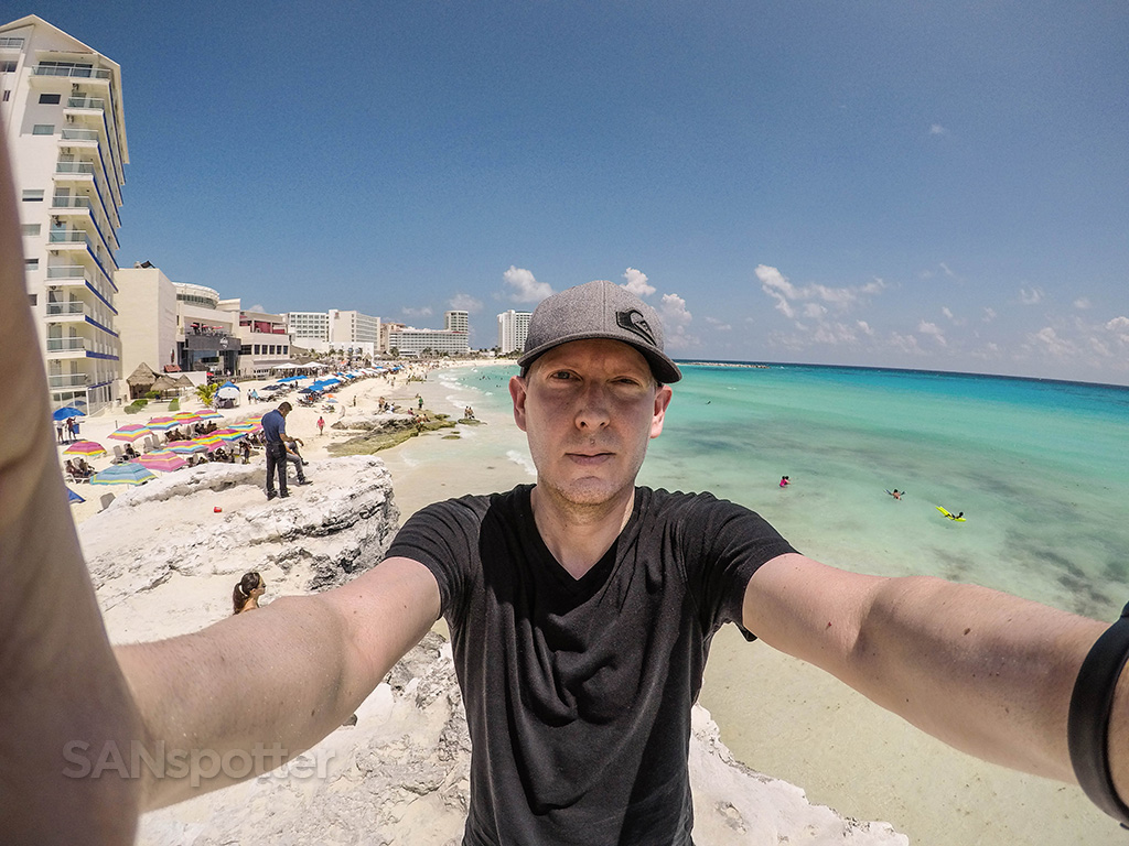 SANspotter selfie Cancun