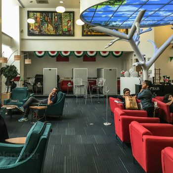 Interior of the grand lounge elite Mexico City airport