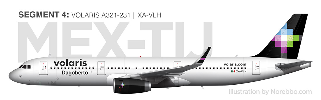 Volaris A321 side view