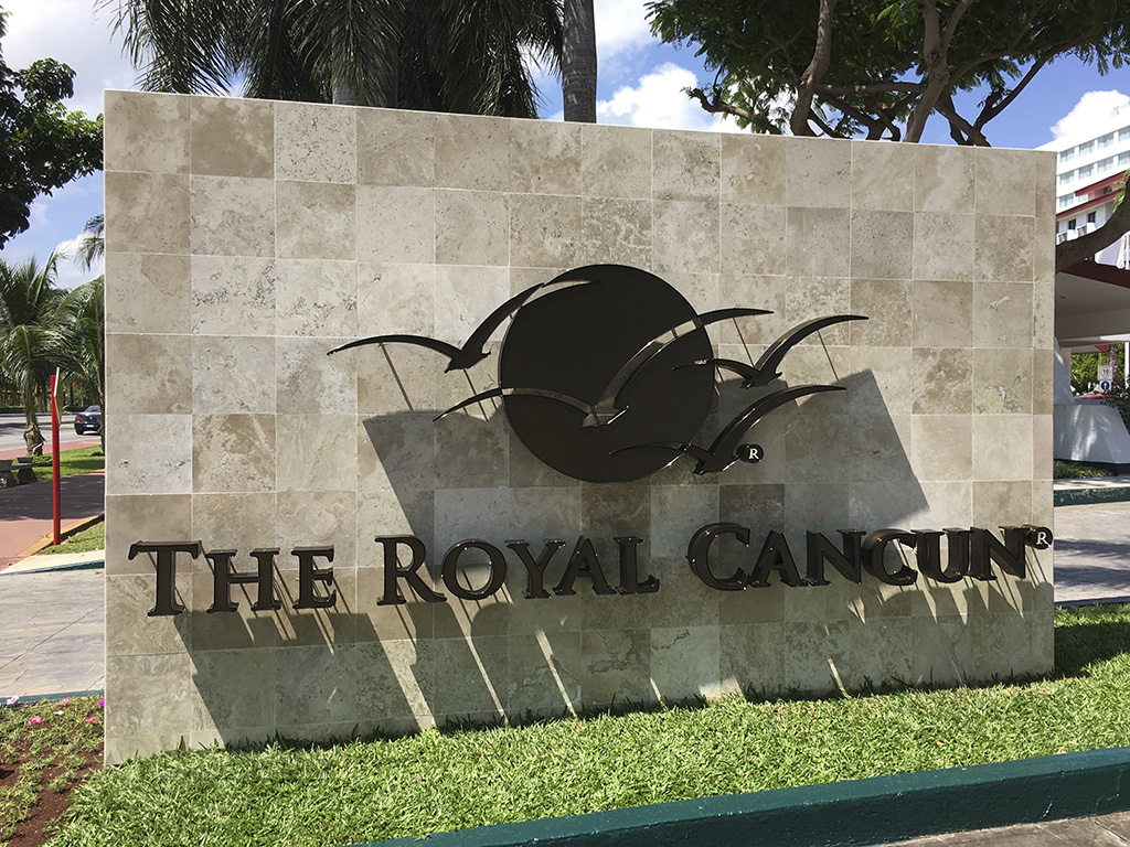 Royal Cancun all suite resort sign
