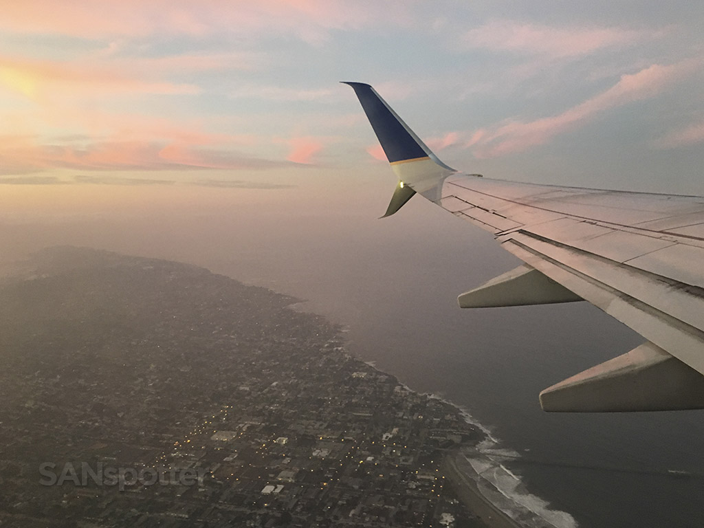 Departing over point Loma San Diego airport